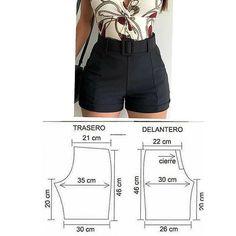 Fashion Sewing, Diy Fashion, Fashion Outfits, Dress Sewing Patterns, Clothing Patterns, Sewing Clothes, Diy Clothes, Como Fazer Short, Costura Fashion