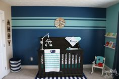 Nautical Baby Boy Nursery Decor; reclaimed wood, sailboats, whales in navy and teal