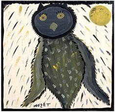 An owl by Alabama artist Mose Tolliver. Description from pinterest.com. I…