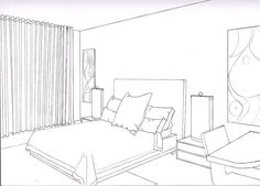 One Point Perspective Bedroom | smallroomsdesigns.