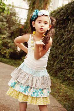 Amanda's Triple Ruffle Skirt pattern on Craftsy.com