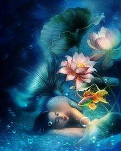 Mermaid - Animated Photo by Dixinox. Love this fantasy art gif! Fantasy Mermaids, Unicorns And Mermaids, Mermaids And Mermen, Mermaid Artwork, Mermaid Drawings, Mermaid Paintings, Mermaid Fairy, Mermaid Gifs, Mermaid Pictures