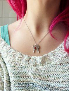 A Little Stranger Legend of Zelda Small Key & Boss Key Silver Necklaces