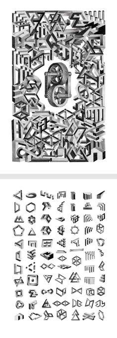Tiphaine Jezouin -  Affiche / Illustration - Formes impossibles réalisées à la mine de plomb