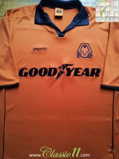 Relive Wolverhampton Wanderers' season with this original home football shirt. PlayerN/A & SizeAdults Small Con. Classic Football Shirts, Vintage Football Shirts, Sport Football, Wolverhampton Wanderers Fc, Colorful Shirts, Store, Mens Tops, Larger, Shop