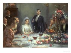 Erik Henningsen (1855-1930): The Wedding Toast