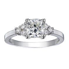 18K White Gold Trio Diamond Ring from Brilliant Earth