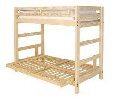 Twin Xl Over Full Xl Futon Bunk Bed With Optional Golden Oak Finish