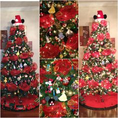 Disney, Christmas tree, Christmas, Mickey Mouse, Minnie Mouse,