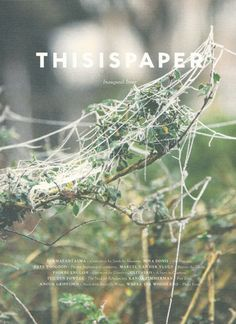 THISISPAPER: Inaugural Issue