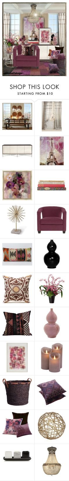 """""""..still Talking"""" by addicted2design ❤ liked on Polyvore featuring interior, interiors, interior design, home, home decor, interior decorating, Pottery Barn, Adagio, Bernhardt and Emissary"""