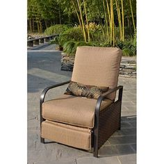 Not much of a budget for apartment furniture? Move this Woven Outdoor Recliner from Walmart inside. Beige goes with anything. Jazz it up with patterned colorful pillows. Move it to the balcony when you want to get a little sun! Perfect.