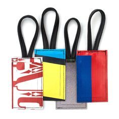 ReMade Luggage Tags--made from old street billboards and bike inner tube