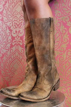 LIBERTY BLACK Brown Distressed Boots | Game Day Brown Cowboy Boots | Gameday Boots | www.sabiboutique.com