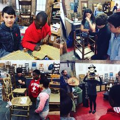#chairnerds in training! Thanks @unitedwayabc for helping us perpetuate the #craft of #chaircaning