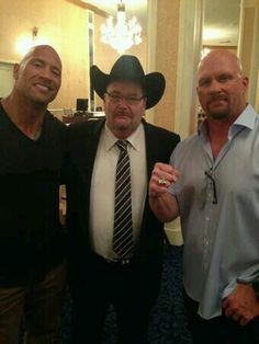 The rock jim ross and stone cold steve austin The Rock Dwayne Johnson, Rock Johnson, Dwayne The Rock, Jerry The King Lawler, Kevin Nash, Vince Mcmahon, Stone Cold Steve, Steve Austin, Wwe Wrestlers