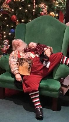 A sleeping infant, unbeknownst to him, became an overnight Facebook sensation,when his adorable photos with Santa (see above and below) drew attention from around the globe.