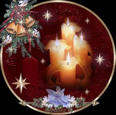 Christmas - Candles, Angel and bells Xmas Gif, Merry Christmas Gif, Christmas Candles, Cozy Christmas, Merry Christmas And Happy New Year, Christmas Time, Christmas Bulbs, Christmas Crafts, Christmas Decorations