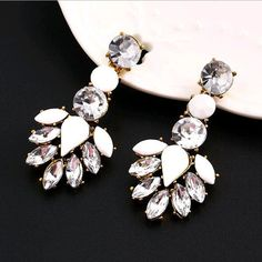 New Fashion jewelry Vintage Crystal Retro Earring For Woman New 2016 Christmas Gift Wholesale