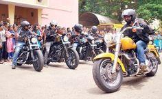 Harley Davidson bike rally against drugs taken out