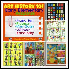 Art Masters in Early Elementary: Art History 101 from RainbowsWithinReach