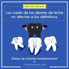 Falso mito 1:  Las caries de los dientes de leche no afectan a los definitvos.