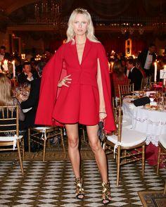 This week's best dressed dared to be bold: Karolina Kurkova.
