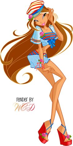 Winx Club Flora Outfits