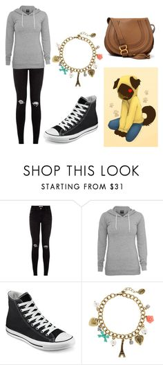 """Hanging With Hoodie"" by ariettav ❤ liked on Polyvore featuring Converse, claire's, Chloé and creepypasta"