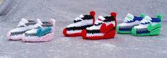 вязание крючком Найк вдохновил теннисные туфли ручной работы DolceStitches