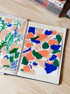 Lovely #sketchbook designs from Cassie Byrnes. // #illustration #colour #design #inspiration