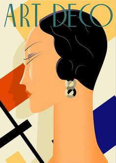 Art Deco poster illustration by Richard Weiss                                                                                                                                                                                 More