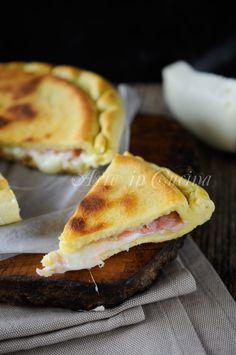 Focaccia veloce con prosciutto e formaggio vickyart arte in cucina