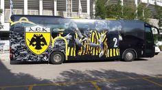 Το πούλμαν της ΑΕΚ άλλαξε εμφάνιση. Πως σας φαίνεται; Sports Clubs, First Love, Coaching, Spirit, Group, Logo, Soccer, World, Oaxaca