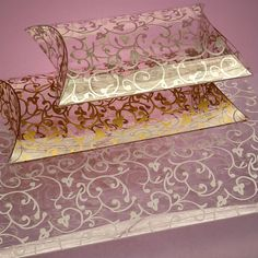 Florentine Pattern Clear Pillow Boxes