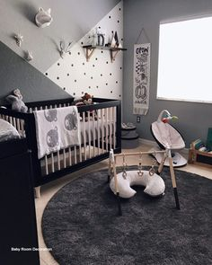 Baby Boy Decorations for Bedroom. Baby Boy Decorations for Bedroom. Grayson S Modern Grey Navy and White Nursery Baby Bedroom, Baby Boy Rooms, Baby Boy Nurseries, Bedroom Wall, Kids Rooms, Room Baby, Bedroom Black, Kids Bedroom, White Nursery
