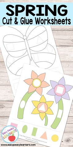Spring - Cut and Glue Worksheets