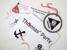 Pirate Map Party Invitation x 10 from Particular Designs