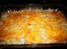 Homemade Cracker Barrel's Hash Browns Casserole to cure your hangover!