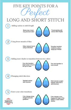 Embroidery Tutorials Key tips for turning your long and short stitch into gorgeous thread paintings! - Long and short stitch, also known as Hand Embroidery Projects, Embroidery Stitches Tutorial, Embroidery Flowers Pattern, Simple Embroidery, Embroidery Hoop Art, Crewel Embroidery, Hand Embroidery Designs, Vintage Embroidery, Embroidery Techniques