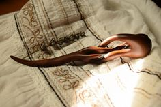 Free Shipping  Handcarved Twisted Hairstick  Walnut Wood