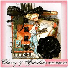 GogoGirlScrapbooking.com Scrapbooking Mini Album Kits Layout Kit Altered Projects with instructions