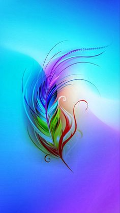 Fractal Art, Fractals, Huawei Wallpapers, Phone Wallpapers, Feather Wall Art, Phone Wallpaper Images, Pretty Wallpapers, Colorful Wallpaper, Neon
