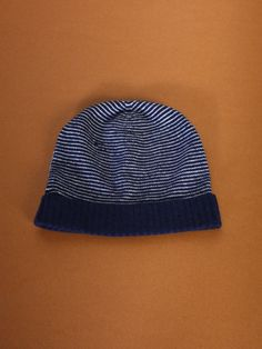 Navy & White Stripa Hat by Sophia Costas