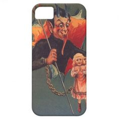 Krampus With Girl  Pitchfork iPhone 5 Cover