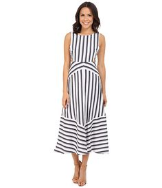 Brigitte Bailey Amalie Striped Dress with Cut Out Sides
