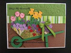 Card Creations By Lorraine: Spring Time Is Here!!! Walk in My Garden Cricut Cartridge