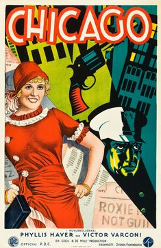 poster for 1927's Chicago