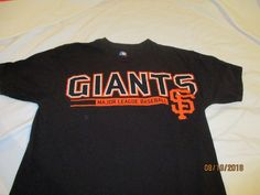 09662390 San Francisco Giants Black Father's Day Medium #1 Dad T-Shirt #sfgiants #