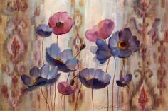 Masterpiece Art - Ikat Floral Purple, $35.20 (http://www.masterpieceart.com.au/ikat-floral-purple/)